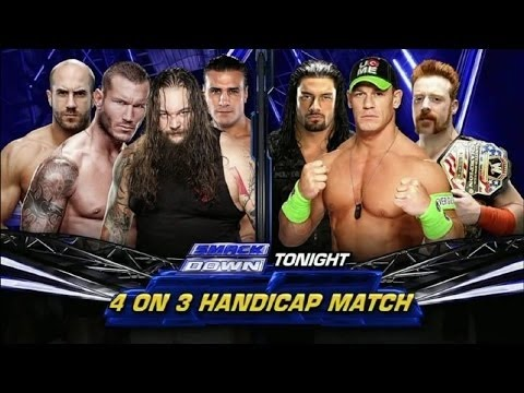 LUCHA COMPLETA  4 on 3 Handicap Match   SmackDown ᴴᴰ