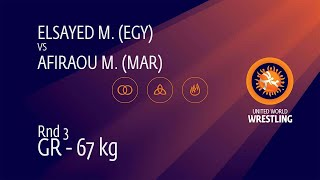 Round 3 GR - 67 kg: M. ELSAYED (EGY) v. M. AFIRAOU (MAR)