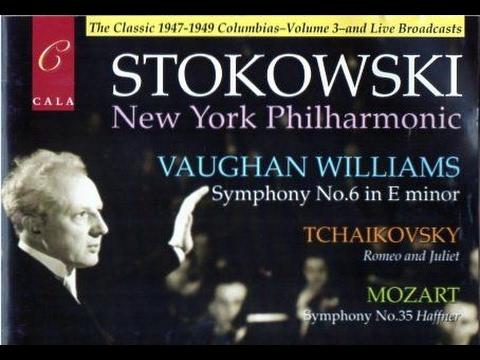 Vaughan Williams Symphony No. 6 - 1st mvt. - Stokowski conducts