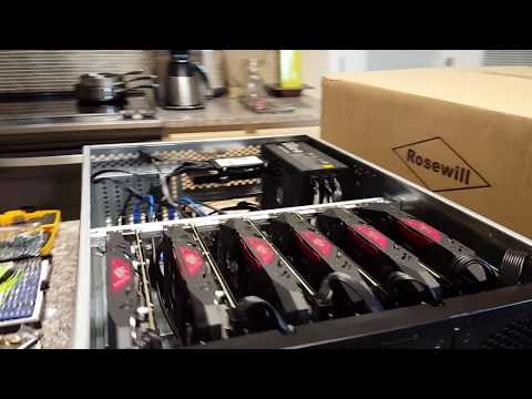 Ethereum Rackmount Miner 6 GPU Rosewill 4u - Quick Build