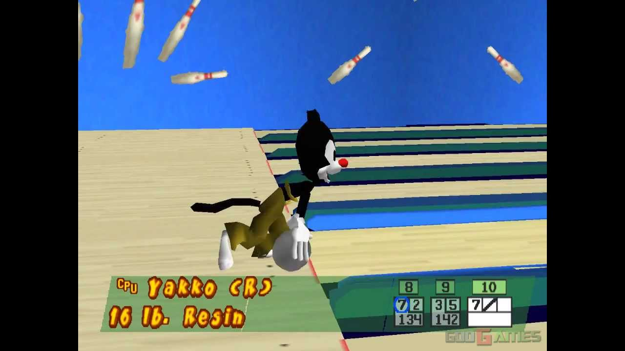 Animaniacs: Ten Pin Alley PS1 game,