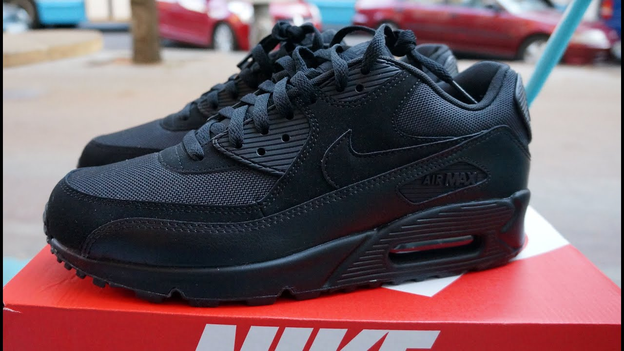 Nike Air Max 90 Essential Black Youtube