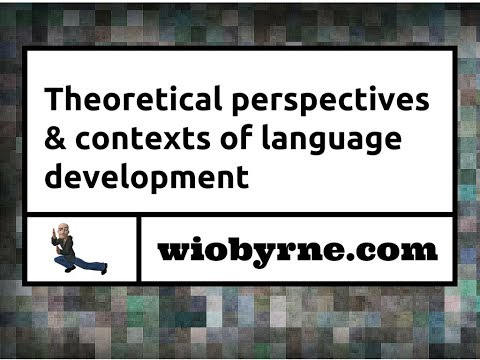 Theoretical Perspectives & Contexts of Language Development