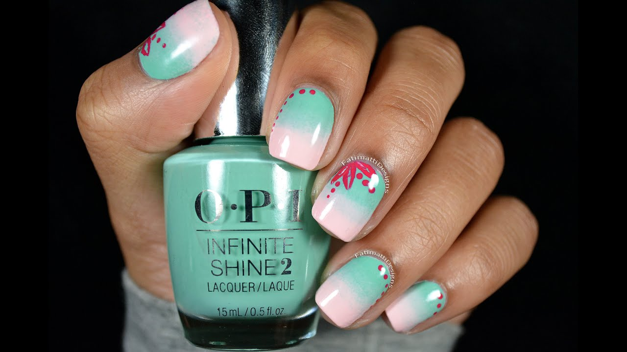DIY: Professional Spring Gradient Nail Art using OPI Infinite Shine ...