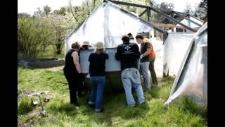 Building the first Chicken Gardening fence :)