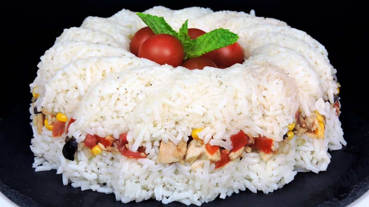 Pastel de arroz con at n ensalada de arroz youtube - Ensalada de arroz light ...