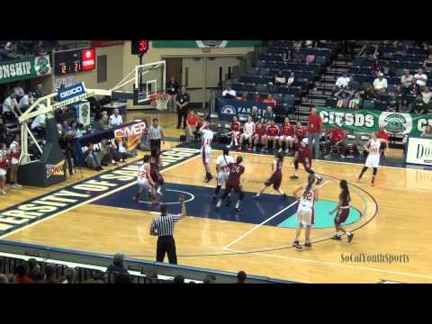 2015 San Diego Section CIF Finals Open Division Girls Basketball Mt Carmel vs Mission Hills