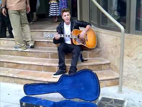 Justin Bieber Busking In Stratford June 16 2012 I Ll