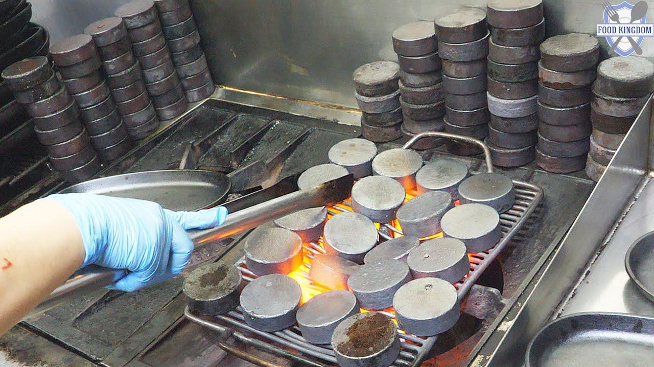 무쇠에 구워먹는 한우 함바그볼 (마늘,치즈,숙주토핑) / 부산 정관신도시