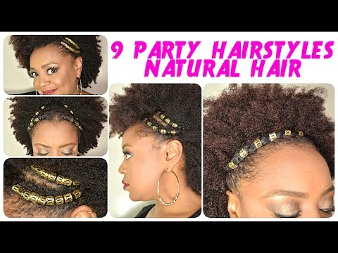 9 Festival Holiday Party Hairstyles For Natural Hair Ft Hair Jewels The Curly Closet