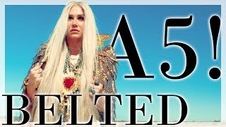 "Kesha Belts Her Highest Notes on ""This is Me"" 