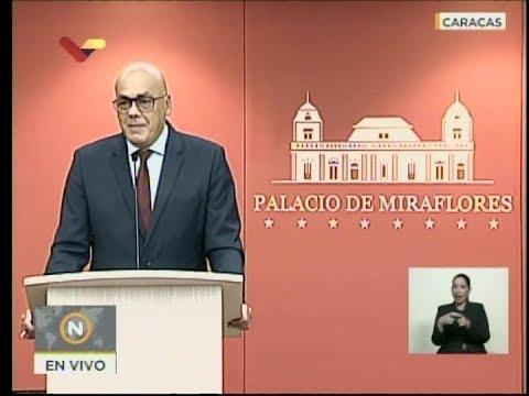 Jorge Rodríguez, vicepresidente de comunicación, cultura y turismo: Rueda de prensa 24 agosto 2018