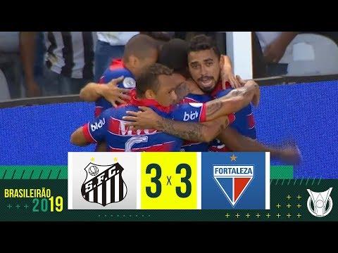 SANTOS 3 x 3 FORTALEZA - Melhores Momentos - Brasileirão 2019
