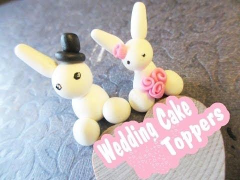 Bunny Wedding Cake Toppers