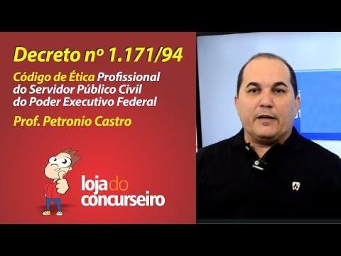 ✔ Decreto nº 1.171/1994 - Código de Ética do Servidor Público Federal - Loja do Concurseiro