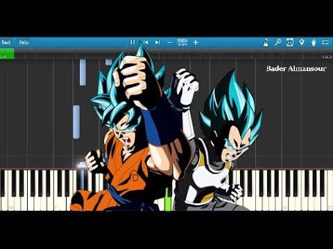 Dragon Ball Super - Unbreakable Determination ( Piano Tutorial ) Goku SSJ Blue Kaioken Theme