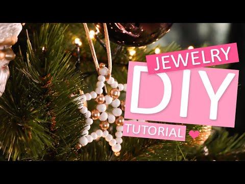 DIY Tutorial: So stellen Sie fantastische Schneekristall-Anhänger aus Perlen her