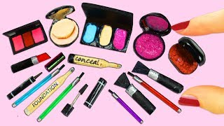 💄💋 How to Make 100% REAL Miniature Makeup / Cosmetic Products - 10 Easy DIY Miniature Doll Crafts
