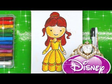 Как нарисовать БЕЛЛЬ Принцесса Диснея