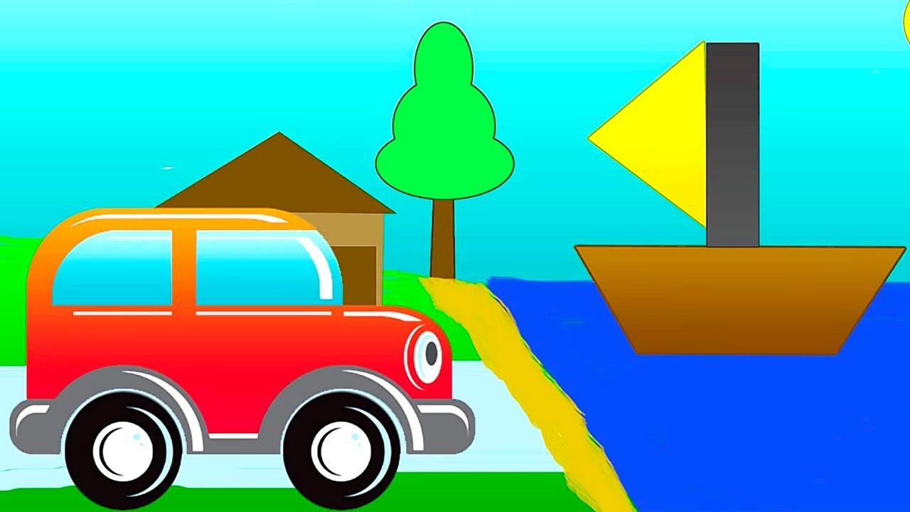 zeichentrickfilm das clevere auto geometrische figuren 2 youtube. Black Bedroom Furniture Sets. Home Design Ideas