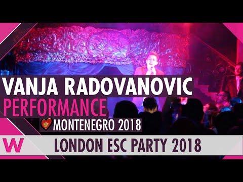 """Vanja Radovanović """"Inje"""" (Montenegro 2018) LIVE @ London Eurovision Party 2018"""