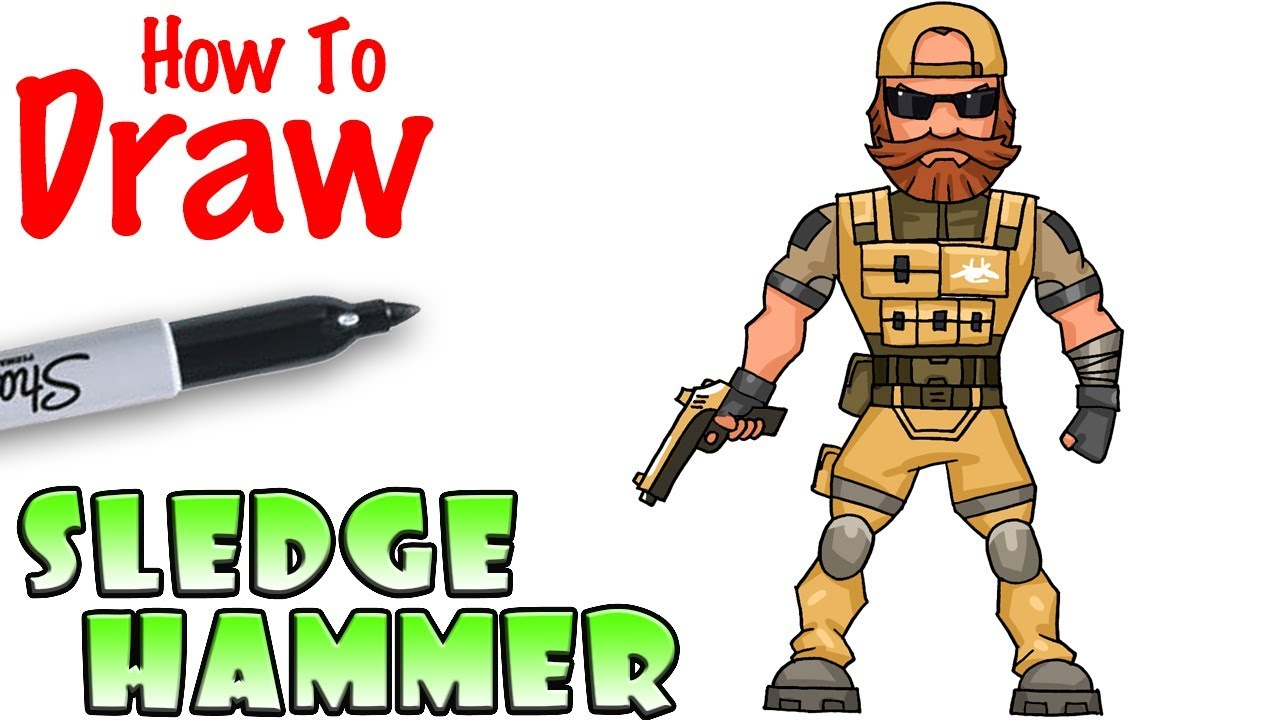 How To Draw Sledgehammer Fortnite Youtube