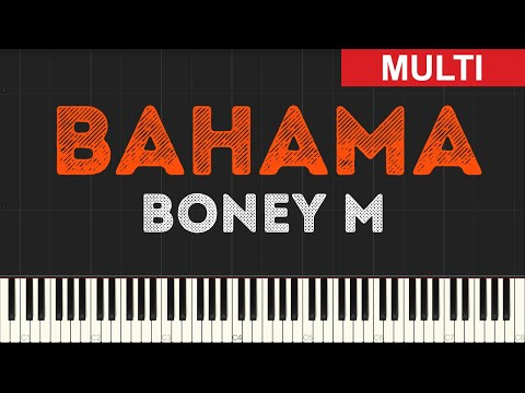 Boney M - Bahama (Instrumental Tutorial) [Synthesia]