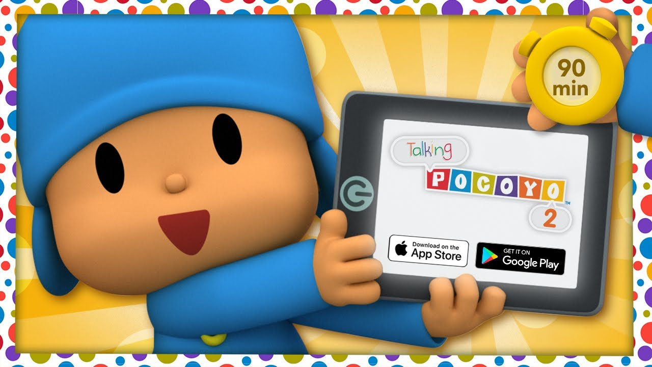 🗣 POCOYO AND NINA - Talking Pocoyo 2 - Rock [90 min] | ANIMATED CARTOON for Children | FULL episodes