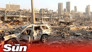 Beirut explosion aftermath in Lebanon's devastated capital