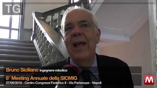 Prof. Bruno Siciliano's interview @ SICMIG Congress - VideoMetroTV - 27 Sep 2018