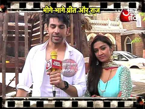 Rain romance of Raj and Preet in  Waaris