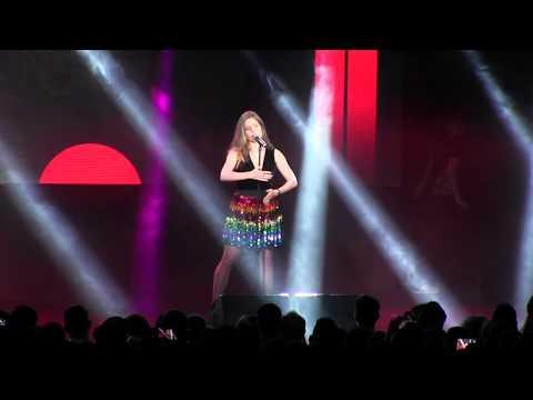 ESCKAZ in Madrid: Laura RIzzotto (Latvia) - Funny Girl (at ESPreParty)