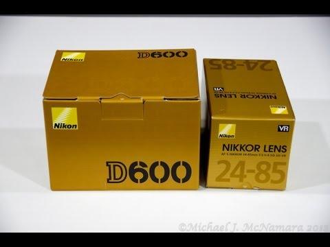 Nikon D600 and Nikkor 24-85mm VR Lens Unboxing