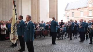 Last Post Menenpoort Ieper 23 augustus - KH Sint-Cecilia Rotselaar - Nat hymne Gr.Brittannie/Belgie