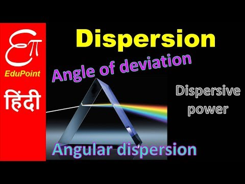 Dispersion of light through Prism   video in HINDI