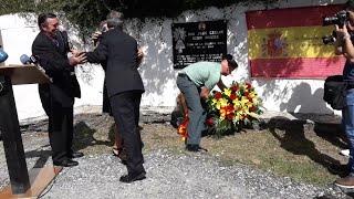 Homenaje al cabo de la Guardi Civil Juan Carlos Beiro, asesinado por ETA hace 17 años