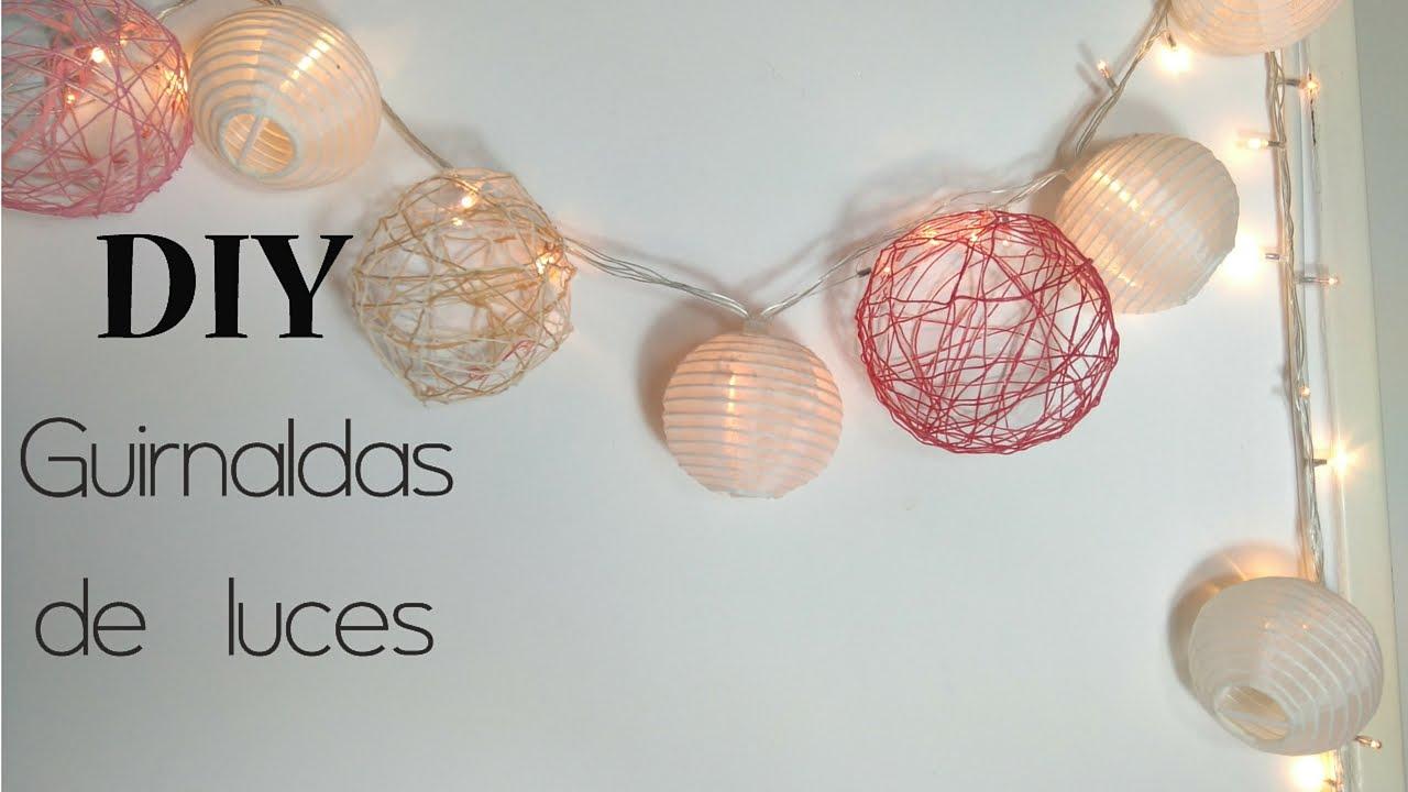 diy como hacer una guirnaldas de luces fcil y econmica youtube - Guirnaldas De Luces