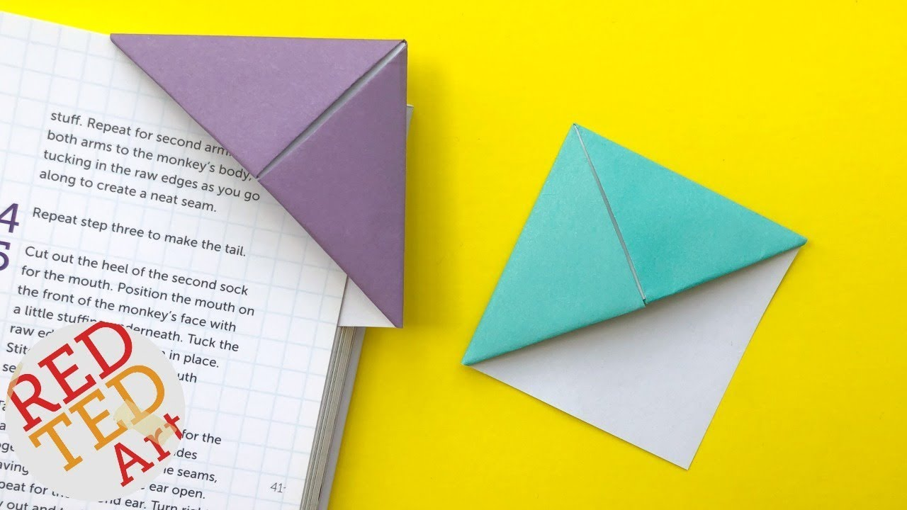 easy origami bookmark corner - how to make a corner bookmark diy
