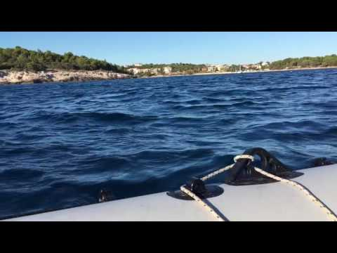 Navigating on Adriatic sea with navigator III