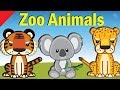 Learn Zoo Animals | Video Flash Cards | English for Children | Fun Kids Videos