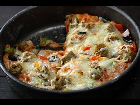 Chicken Pan Pizza_Sanjeev Kapoor Khazana