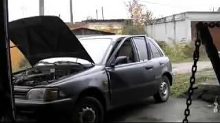 Рихтовка  Toyota Starlet .Кузовной ремонт. BODY REPAIR(Вывернуты водительские двери., 2013-10-21T02:19:30.000Z)