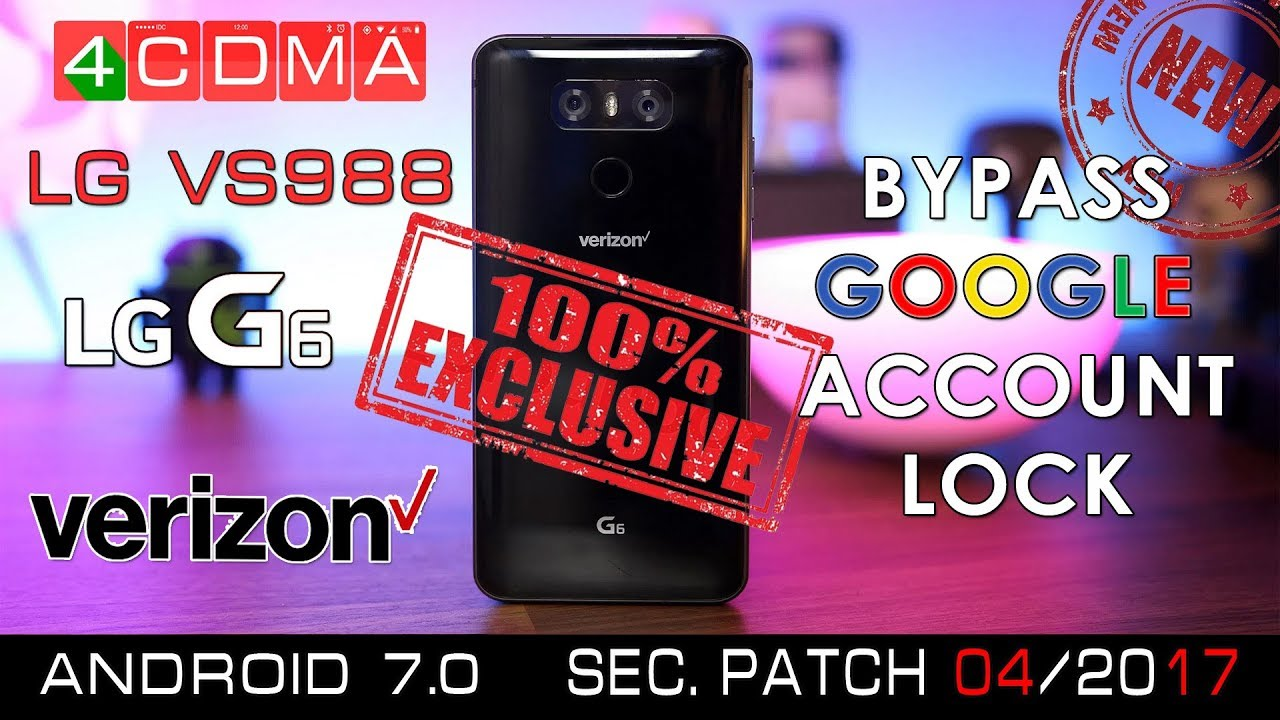 LG G6 VS988 Google Account Bypass Activation | VS98811A | Android 7 0 by  4CDMA