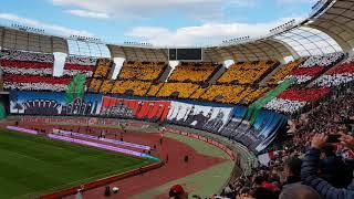 """Bari - foggia 1-0. coreografia curva nord e inno """"bari grande amore"""""""