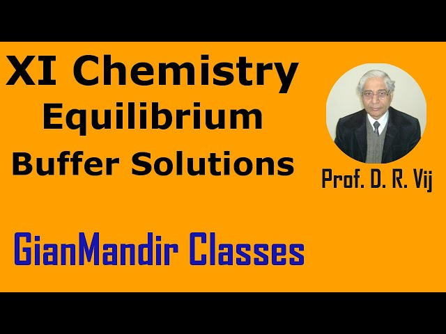XI Chemistry | Equilibrium | Buffer Solutions by Ruchi Ma'am