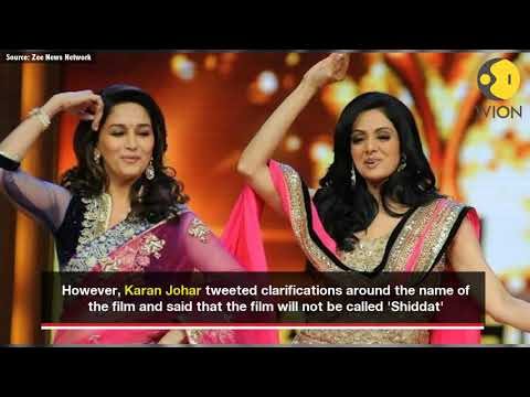 As Madhuri steps in for Sridevi's film with Sanjay Dutt, Karan Johar clarifies