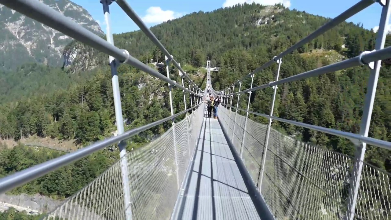Highline 20 suspension bridge Reutte, Austria   YouTube