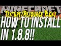 How To Download & Install Texture Packs/Resource Packs In Minecraft 1.8.8