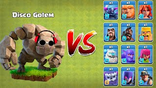 New Level 10 Golem vs All Troops | Clash of Clans gameplay