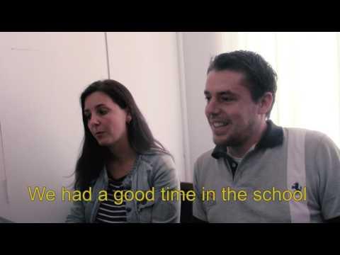 """Studenten van de """"South American Language Center"""" Spaanse school in Quito, Ecuador."""